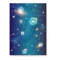 social network on background of circular hud ui