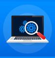 software testing software development workflow vector image vector image