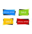special offer sale banner vector image