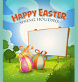 spring time and easter holidays vector image vector image