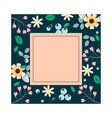 square floral template template vector image vector image