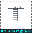Step ladder icon flat vector image vector image