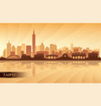 taipei city skyline silhouette background vector image vector image