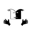 Theatre face symbol vector image vector image