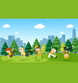 urban boy street dance in the park vector image vector image