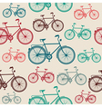 Vintage bike elements seamless pattern