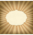 Vintage Template With Sunbeams vector image