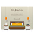 web design banner of modern bedroom interior with vector image vector image