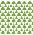 Christmas tree seamless pattern endless vector image