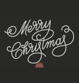 hand drawn lettering - merry christmas elegant vector image