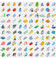 100 finance icons set isometric 3d style vector image vector image