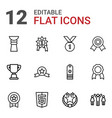 12 award icons vector image vector image