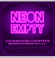 131 neon font b vector image