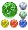 abstract globe icon set vector image vector image