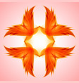 abstraction red symbol for design on pinck vector image