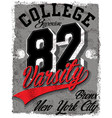 athletic dept new york varsity sport print and vector image vector image