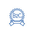 b2c line icon concept b2c flat symbol vector image vector image