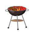 barbecue party grill with steaks cutlets vector image vector image