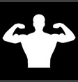 bodybuilder it is the white color icon vector image vector image