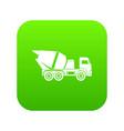 building mixer for concrete icon digital green vector image