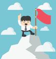 Businessman Climbing atop Peak vector image vector image