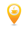 cafe icon yellow map pointer vector image