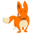 cartoon fox animal character vector image vector image
