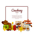 cartoon wild west elements isolated on vector image vector image
