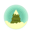 color rounded icon of a christmas tree in vector image vector image