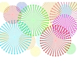 Colorful firework on white background vector image vector image