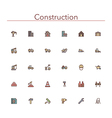 Construction Colored Line Icons