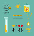 covid19-19 2019-ncov virus plasma donation vector image vector image