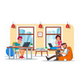 coworking center concept flat vector image