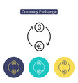 currency exchange sign vector image vector image