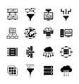 Data filter and data transfer icons vector image vector image