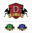 Double dragon crest logo vector image vector image