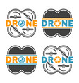 drones and quadrocopters colored design elements vector image vector image