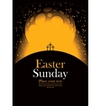 easter with calvary and crosses vector image