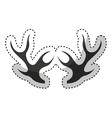 elegant frame with horns vector image vector image