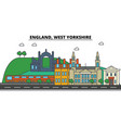 england west yorkshire city skyline architecture vector image vector image