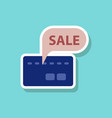 fashion patch sale sticker bank card sale vector image