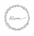 flower wreath hand drawing for the vector image vector image