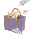 Flying object in shop bag-02 vector image vector image