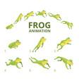 frog jumping animation various keyframes vector image vector image