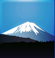 fuji mountain background vector image vector image