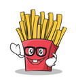 Geek face french fries cartoon character