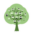genealogy tree for dna ancestors isolated