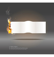glowing paper banner vector image vector image