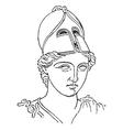 Greek Centurion vintage engraving vector image vector image