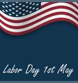 happy labor day usa wavy flag ill vector image vector image